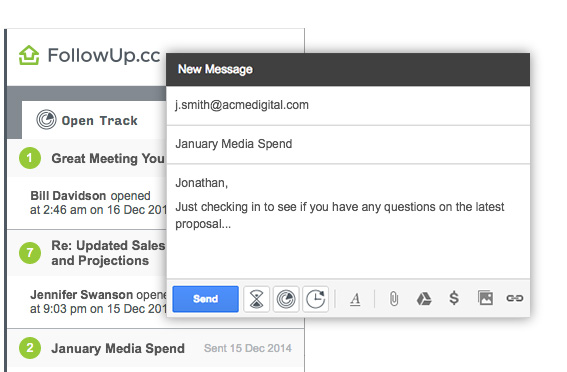 Sending email to Jonathan and tracking if its opened